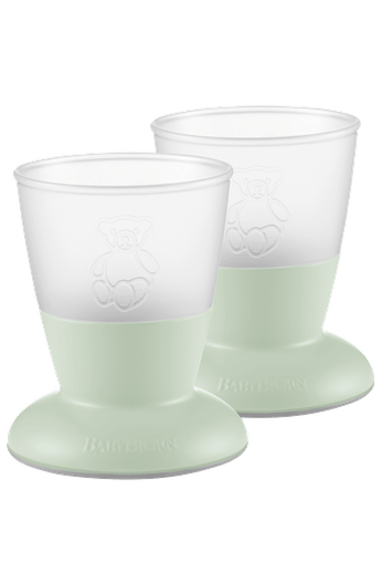 Baby Cup, 2-pack Powder Green - BABYBJÖRN