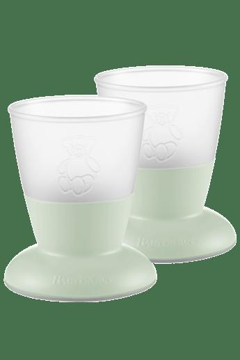 Baby Cup, 2-pack Powder Green - BABYBJÖRN