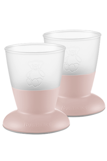 Baby Cup Powder Pink 2-pack - BABYBJÖRN