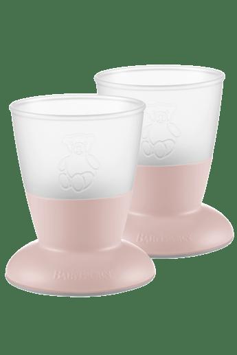 Baby Cup, 2-pack Powder Pink - BABYBJÖRN