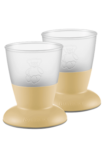 Baby Cup, 2-pack Powder Yellow - BABYBJÖRN