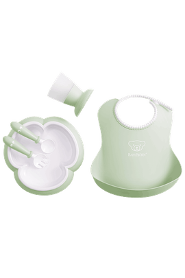 Baby Dinner Set Powder Green - BABYBJÖRN
