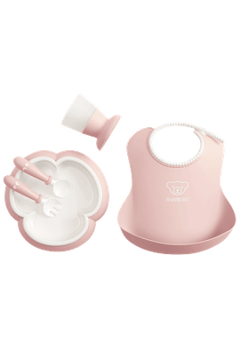 Baby Dinner Set Powder Pink in BPA-free plastic - BABYBJÖRN