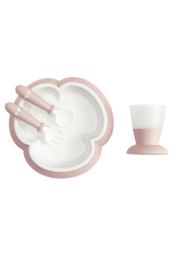 Baby Feeding Set in Powder Pink - BABYBJÖRN