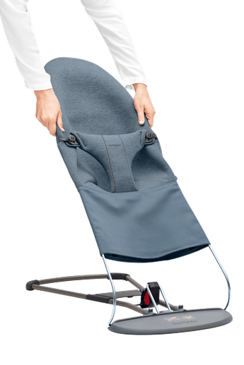 Asiento de tela adicional para Hamaca Bliss Azul Grisaceo 3D Jersey - BABYBJÖRN