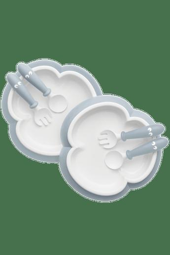 Assiette, Cuillère et Fourchette pour Bébé Bleu Pastel - BABYBJÖRN
