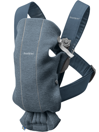 Baby Carrier Mini in Dove Blue 3D Jersey - BABYBJÖRN