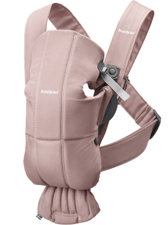 BABYBJORN Baby Carrier Mini - Dusty pink, Cotton