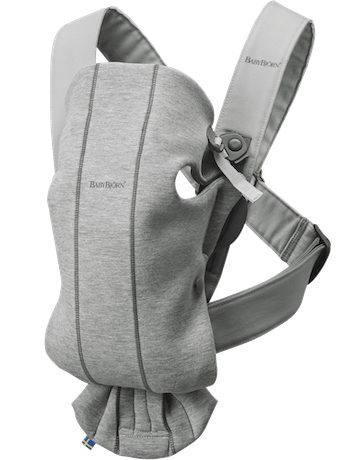 BABYBJÖRN Baby Carrier Mini, Light Grey, 3D Jersey