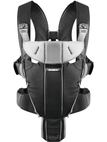 BABYBJORN Baby Carrier Miracle, Black / Silver, Cotton