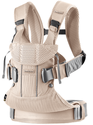BABYBJORN Baby Carrier One Air - Pearly pink, 3D mesh