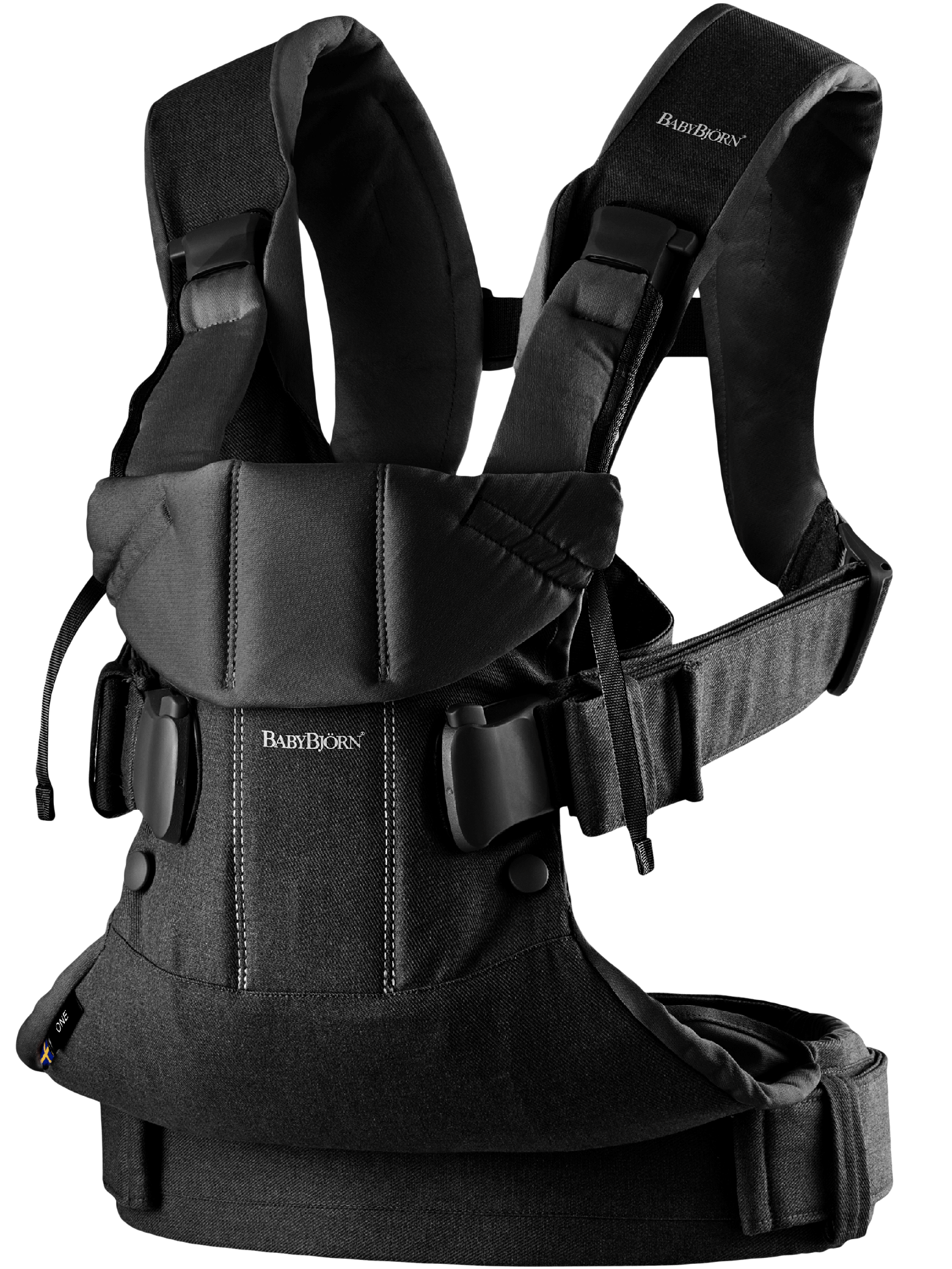 BABYBJORN Baby Carrier One, Black Cotton