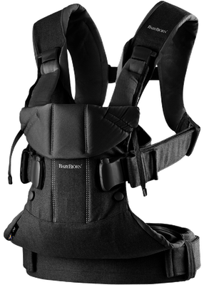 Baby Carrier One Black Cotton - BABYBJÖRN
