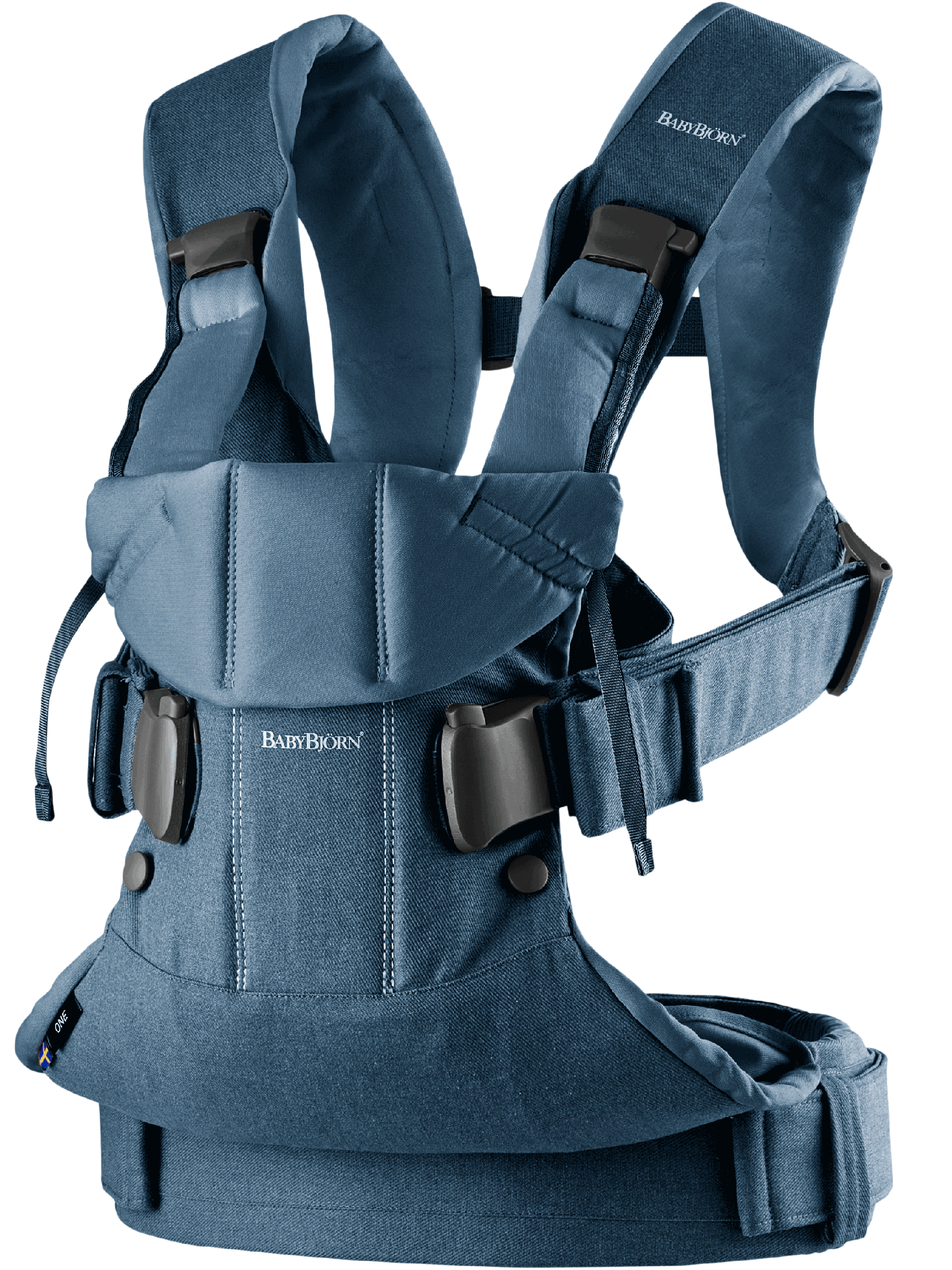 BABYBJORN Baby Carrier One, Classic Denim / Midnight Blue, Cotton