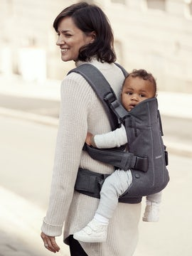BABYBJORN Baby Carrier One, Denim grey / Dark grey, Cotton