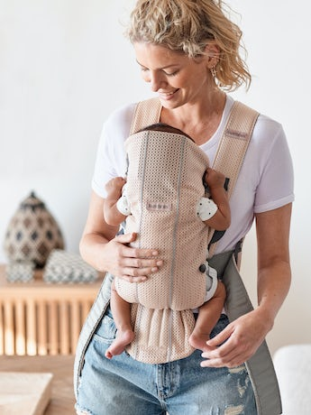 BABYBJORN Baby Carrier Mini, Pearly Pink, 3D Mesh