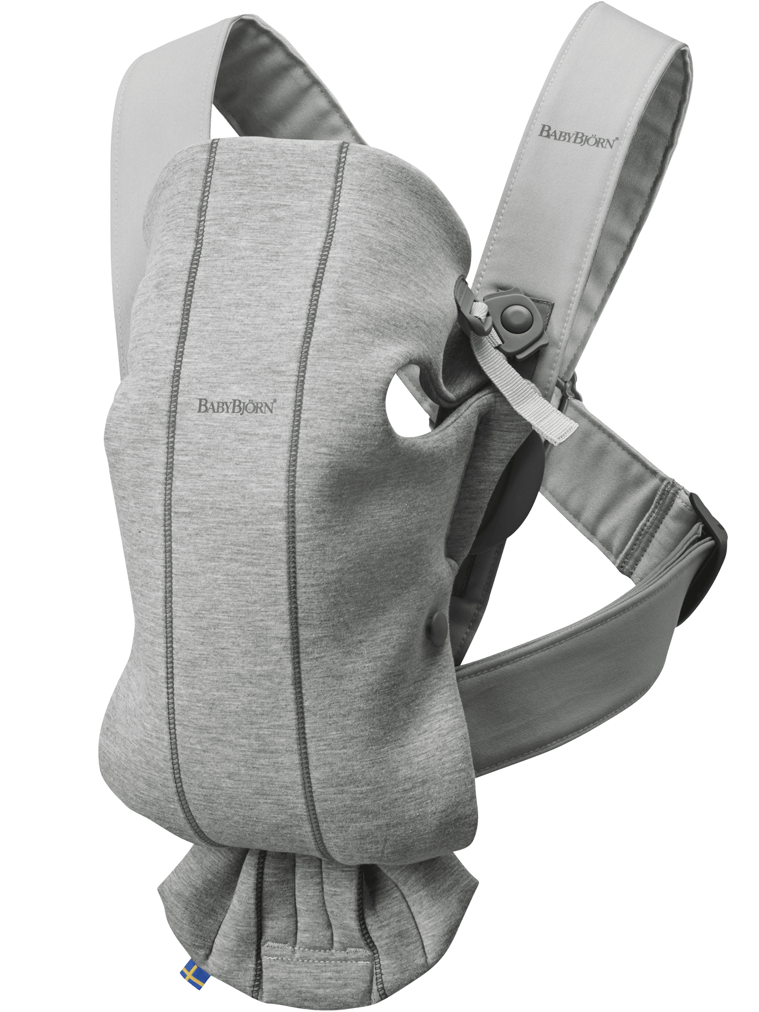 BABYBJÖRN Babytrage Mini Hellgrau 3D Jersey