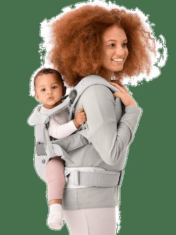 Babytrage One Air Silber 3D Mesh - BABYBJÖRN
