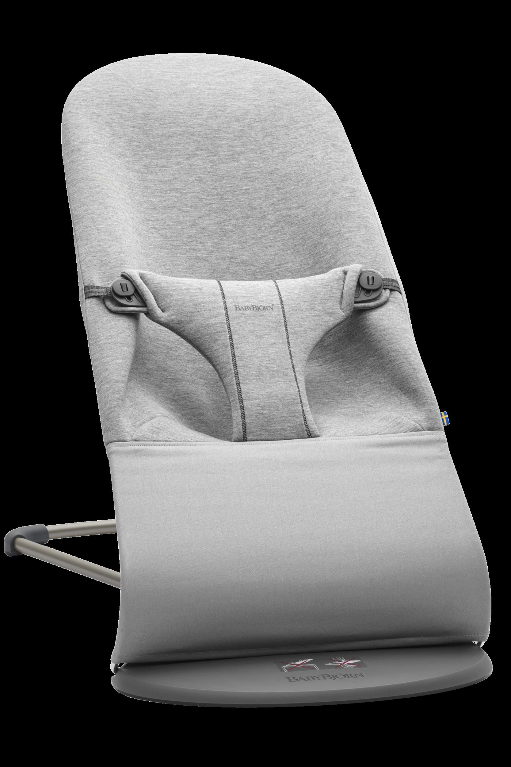 BABYBJÖRN Babywippe Bliss Hellgrau 3D Jersey