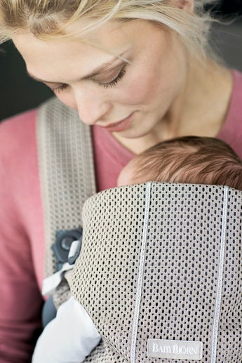 Babytrage Mini Greige 3D Mesh - BABYBJÖRN