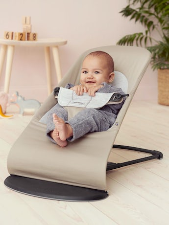 BABYBJORN Bouncer Balance Soft - Beige/Grey, Cotton/Jersey