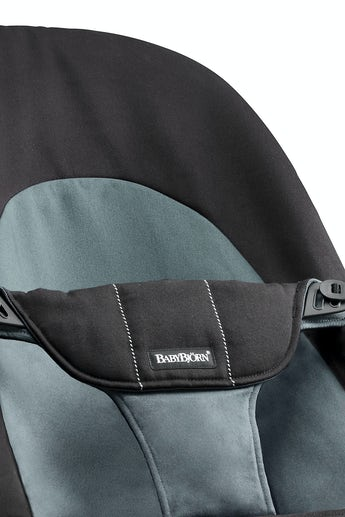 BABYBJORN Bouncer Balance Soft - Black/Dark grey, Cotton