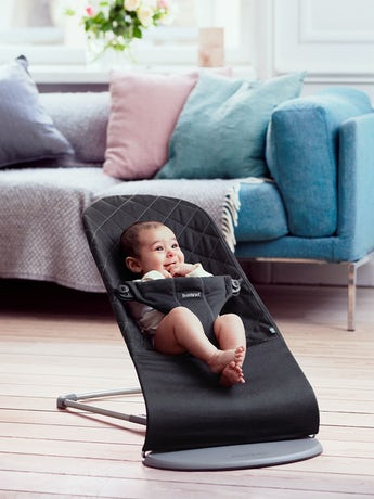 Bouncer Bliss Black in Cotton - BABYBJÖRN