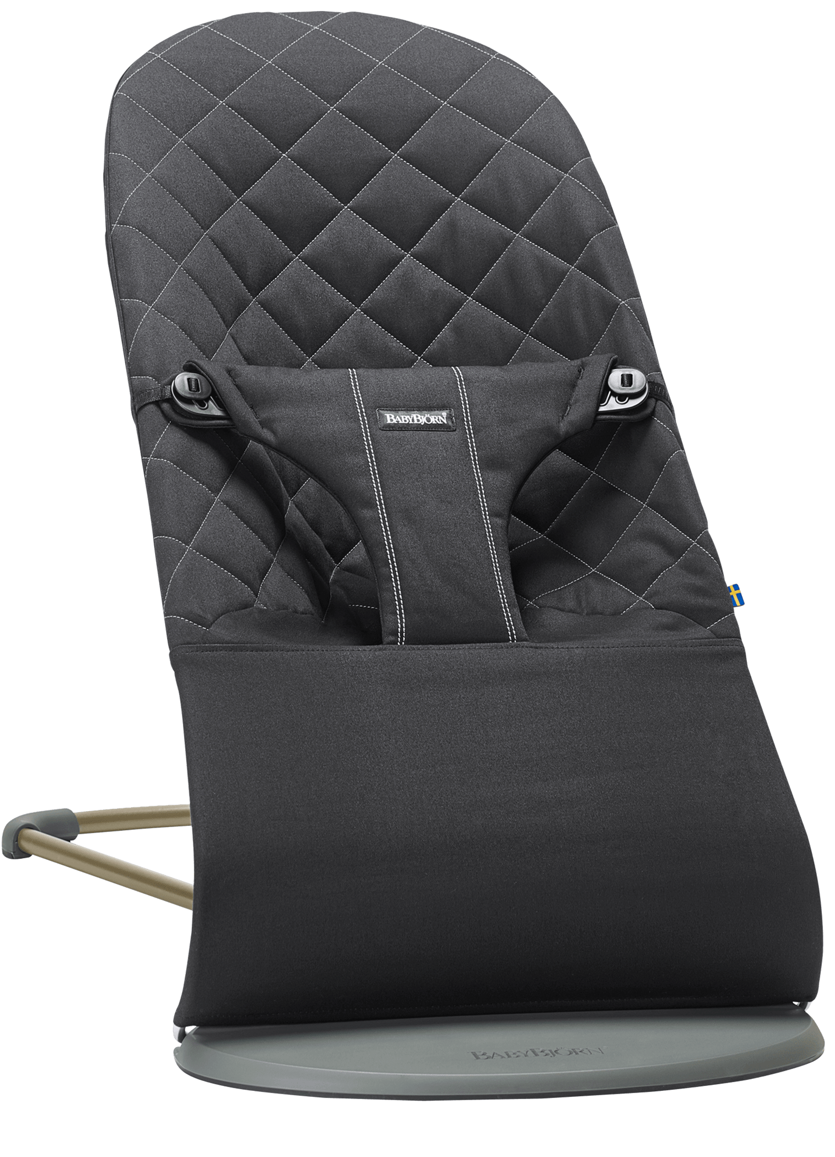 BABYBJORN Bouncer Bliss - Black, Cotton