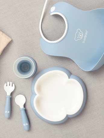 Baby Dinner Set Powder Blue - BABYBJÖRN