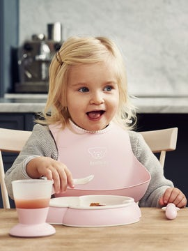 Baby Dinner Set Powder Pink - BABYBJÖRN