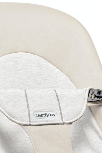 Fabric Seat for Bouncer Balance Soft, Beige/Grey Cotton Jersey - BABYBJÖRN