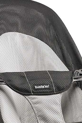 BABYBJORN Bouncer Balance Soft - Black/Grey, Mesh