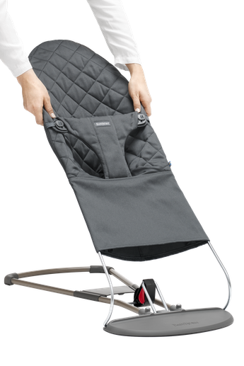 BABYBJORN Fabric Seat for Bouncer Bliss - Anthracite grey, Cotton