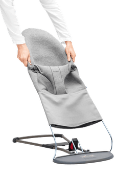 BABYBJORN Fabric Seat for Bouncer Bliss - Light grey, 3d Jersey