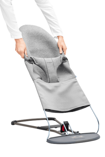 Fabric Seat for Bouncer Bliss Lightgrey in super soft 3D Jersey - BABYBJÖRN