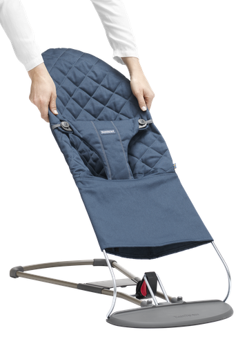 Extra Fabric Seat for Bouncer Midnight Blue Cotton - BABYBJÖRN