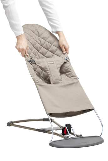 BABYBJORN Fabric Seat for Bouncer Bliss - Sand grey, Cotton