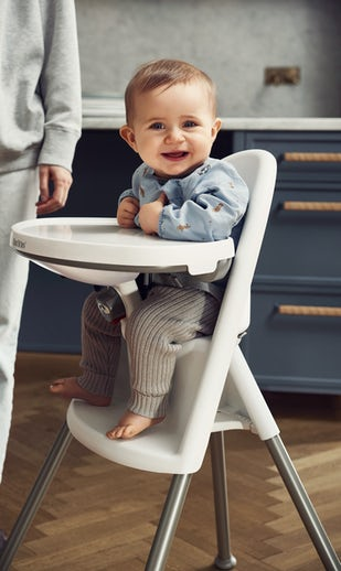 High Chair White Grey in safe design - BABYBJÖRN