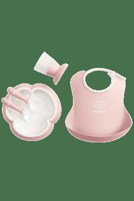 Juego de cubiertos bebé Rosa Pastel - BABYBJÖRN