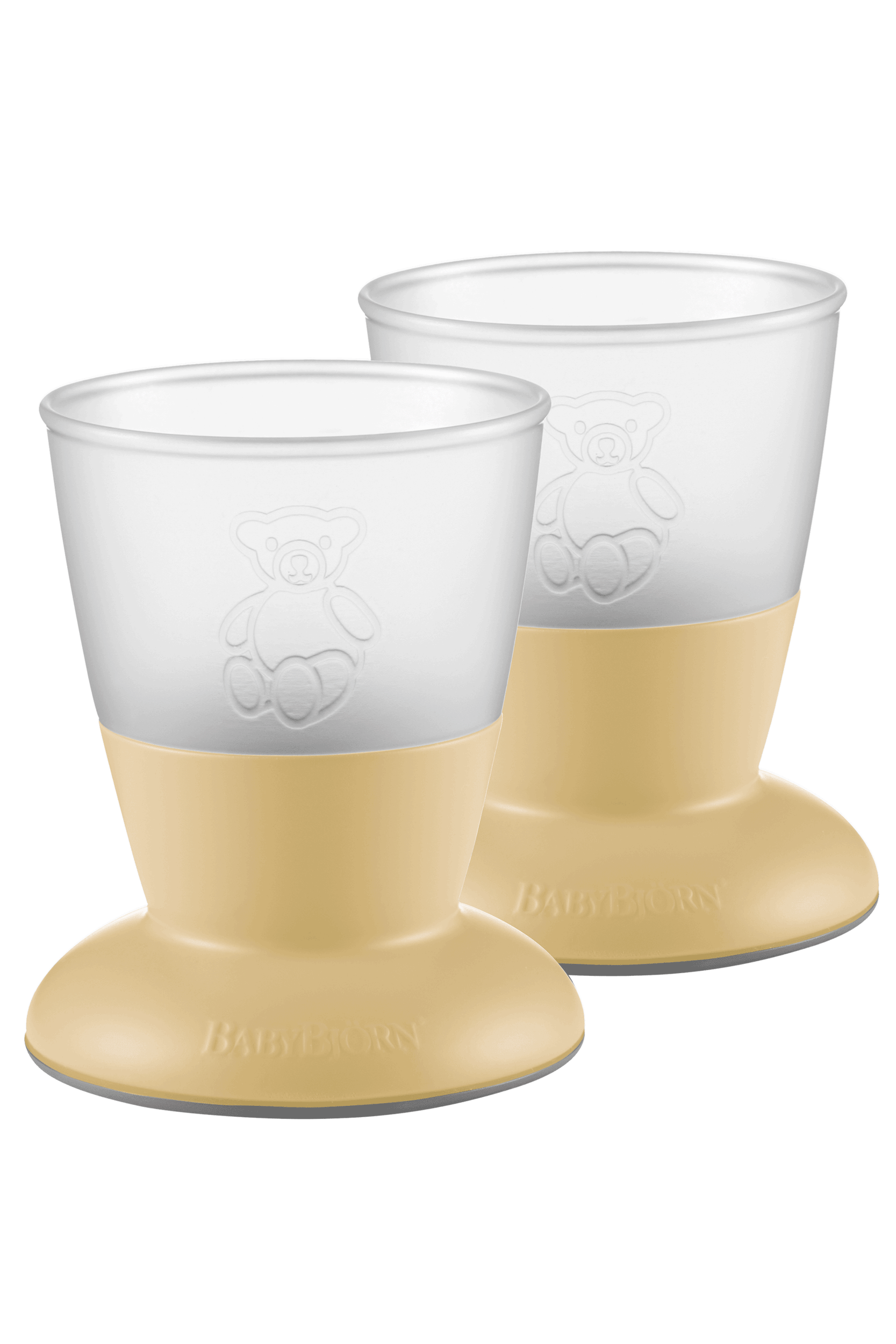 BABYBJÖRN Kinderbecher, 2-Pack Blassgelb