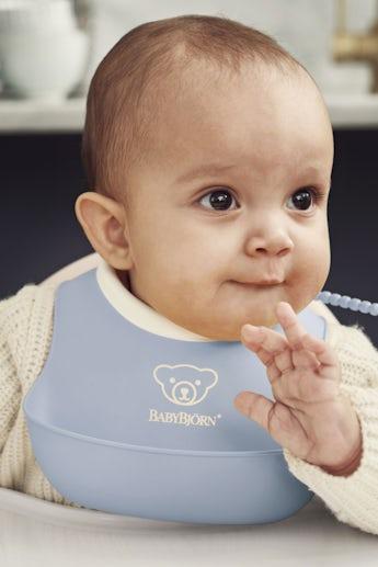 Kleines Lätzchen 2er Pack Blassblau Blassgelb - BABYBJÖRN