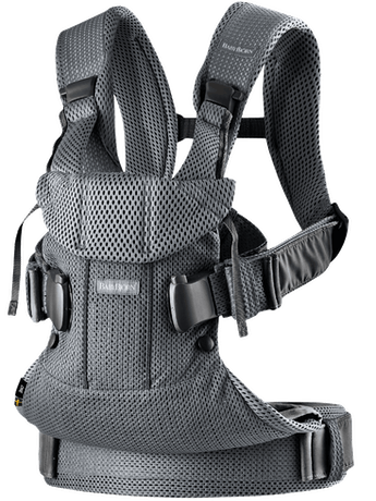 Mochila Porta Bebé One Air Antracita 3D Mesh