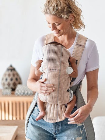 Porte-bébé Mini – Soft Selection - Rose Nacré en 3D Mesh -BABYBJÖRN