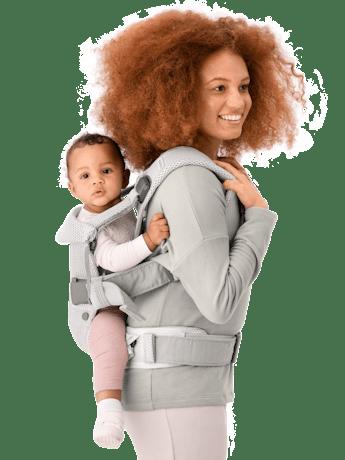 Porte-bébé One Air Argent 3D Mesh - BABYBJÖRN