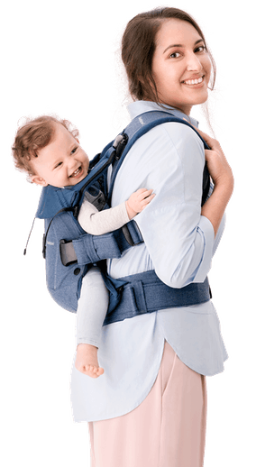 Porte-bébé One Bleu Denim/Bleu Nuit Coton - BABYBJÖRN