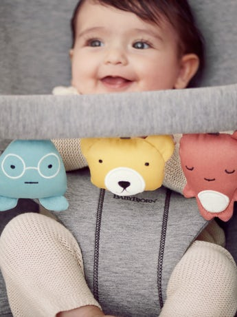 BABYBJÖRN Spielzeug für Babywippe, Weiche Freunde | BABYBJÖRN