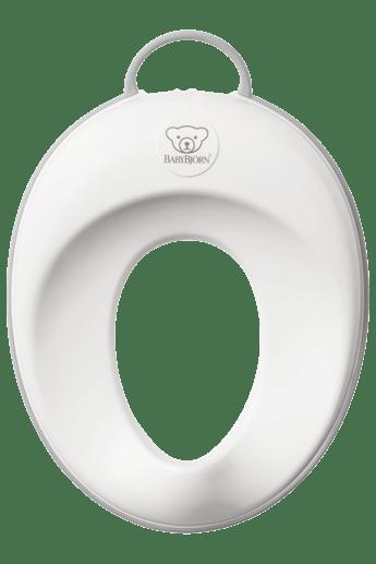 Ein stabiler Toilettensitz,in Weiss/Grau - BABYBJÖRN