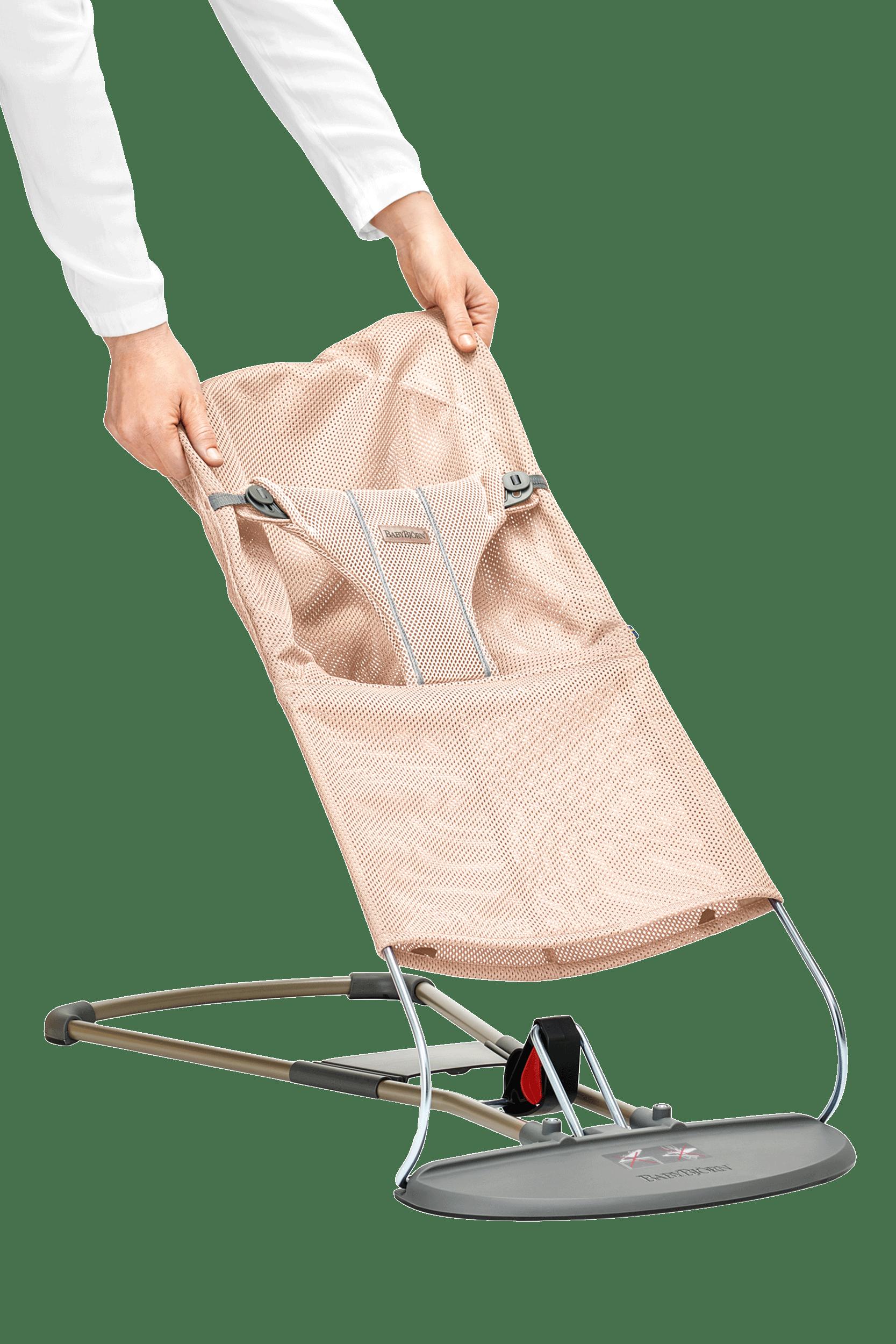 BABYBJÖRN Zusätzlicher Stoffsitz für Babywippe Bliss Perlmuttrosa Mesh