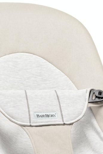 Zusätzlicher Stoffsitz für Babywippe Balance Soft Beige/Grau Cotton Jersey - BABYBJÖRN