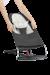 Zusätzlicher Stoffsitz für Babywippe Balance Soft Dunkelgrau/Grau Cotton Jersey - BABYBJÖRN